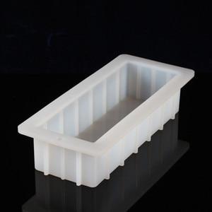 Image 2 - סיליקון סבון עובש מלבן 10Loaf עובש גמיש DIY סבון ביצוע ספקי