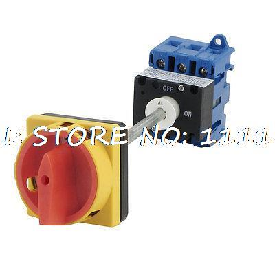 цена на AC690V AC220V AC440V 380V 40A ON/OFF 2 Position Rotary Cam Changeover Switch