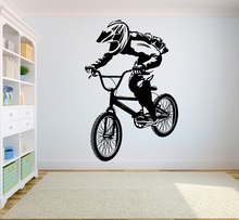 Mountain bicycle competition vinyl wall stickers off road competitive athletes youth bedroom home decoration wall decal 2CE3