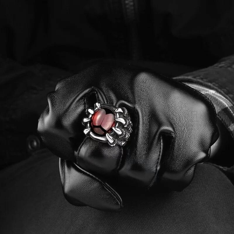 WAWFROK Moda Nehrđajućeg čelika Skull Prstenje Žene Prsten - Modni nakit - Foto 4