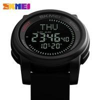 SKMEI Men Sports Compass LED Watches 50M Watwrproof Luxury Fashion Watch Alarm Digital Wristwatch Relogio Masculino