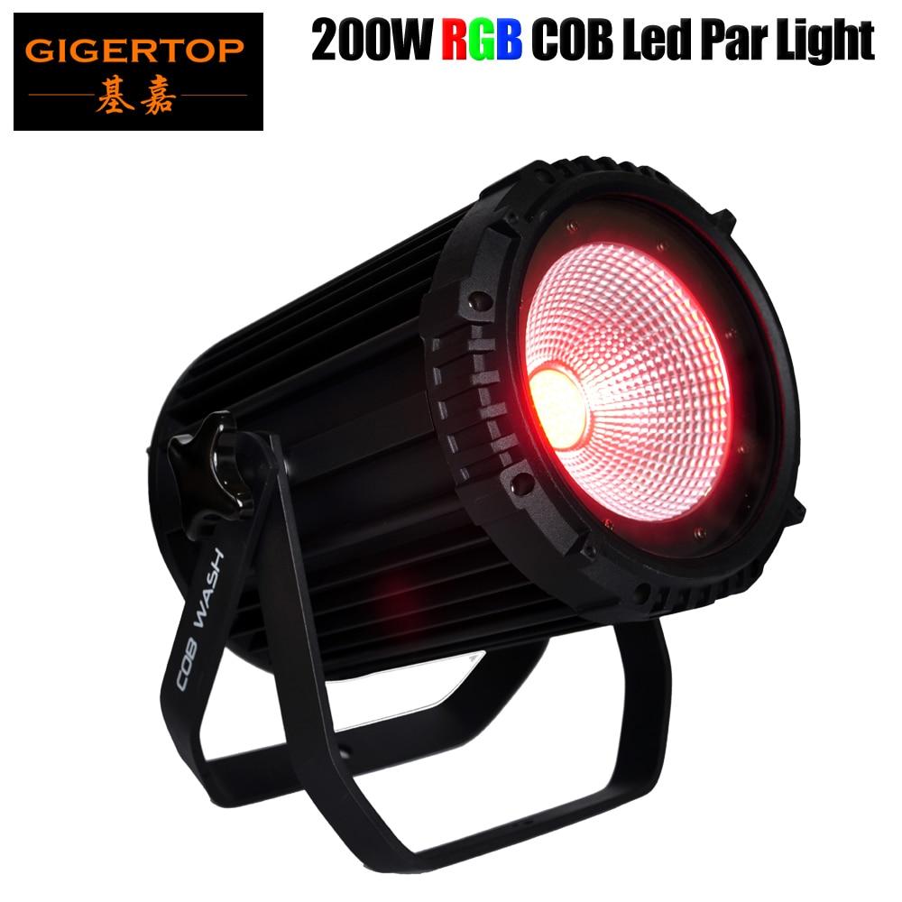 Free Shipping Sample Stage DJ Lighting 200W Led COB Par Light (Cold or Warm White/RGB) BarnDoor to C