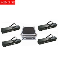 4pcs/lots Fog machine RGB 3in1 LED 1500W smoke machine with Flight Case for professional DJ equipment