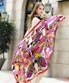 Mosoga 2016 Real Twill Silk Scarf Women Hot Sale Autumn Winter Womans Pashmina Vintage Geometric Print Shawl Top Silk Muffler