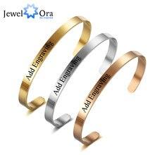 584ec5744d32 5mm personalizado ID brazaletes grabar nombre prometo Amor de acero  inoxidable Color a 3 mujeres pulseras
