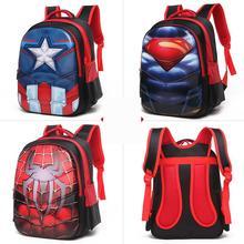 3d Spiderman Captain America Superman Children School Bags Students Backpack Kindergarten Elementary School Backpacks For Boys