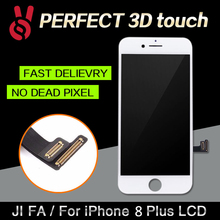 Продажа 2 шт. 5.5 дюймов AAA Качество ЖК-дисплей Экран для iphone 8 Plus Дисплей с планшета 3D Сенсорный экран Замена Ассамблея черный, белый цвет