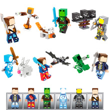 My World Bricks Skin Pack Model Figures Compatible With LegoINGLYs Minecrafted Building Blocks Children Birthday Gift Toys