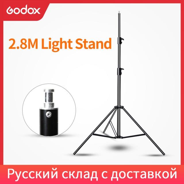 Godox 2.8 m 280 cm 9FT פרו כבד החובה אור Stand עבור פרנל טונגסטן אור טלוויזיה תחנת סטודיו צילום סטודיו חצובות