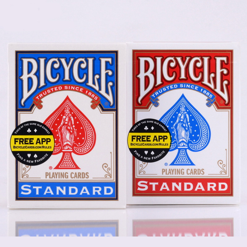 1 PCS Blue/Red Bicycle Poker USA Bicycle Playing Cards Rider Back Standard Decks Cards With Free Shipping стоимость