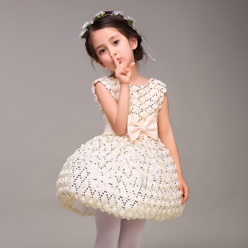 Luxury Baby Girls Pageant Dress for Christmas Costume O Neck ...