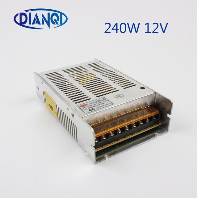 power Switching supply Driver  240W 12V 20A 240-12 24V 10A 240-24 Silver LED Strip light Output AC 110-220V Input AC to DC smps