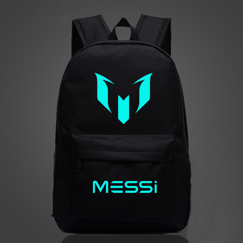Hot Barcelona Messi LOGO Sports Backpackers Shoulder Bag Multicolor Men And Women Academy Wind Travelling Soccer Bags New