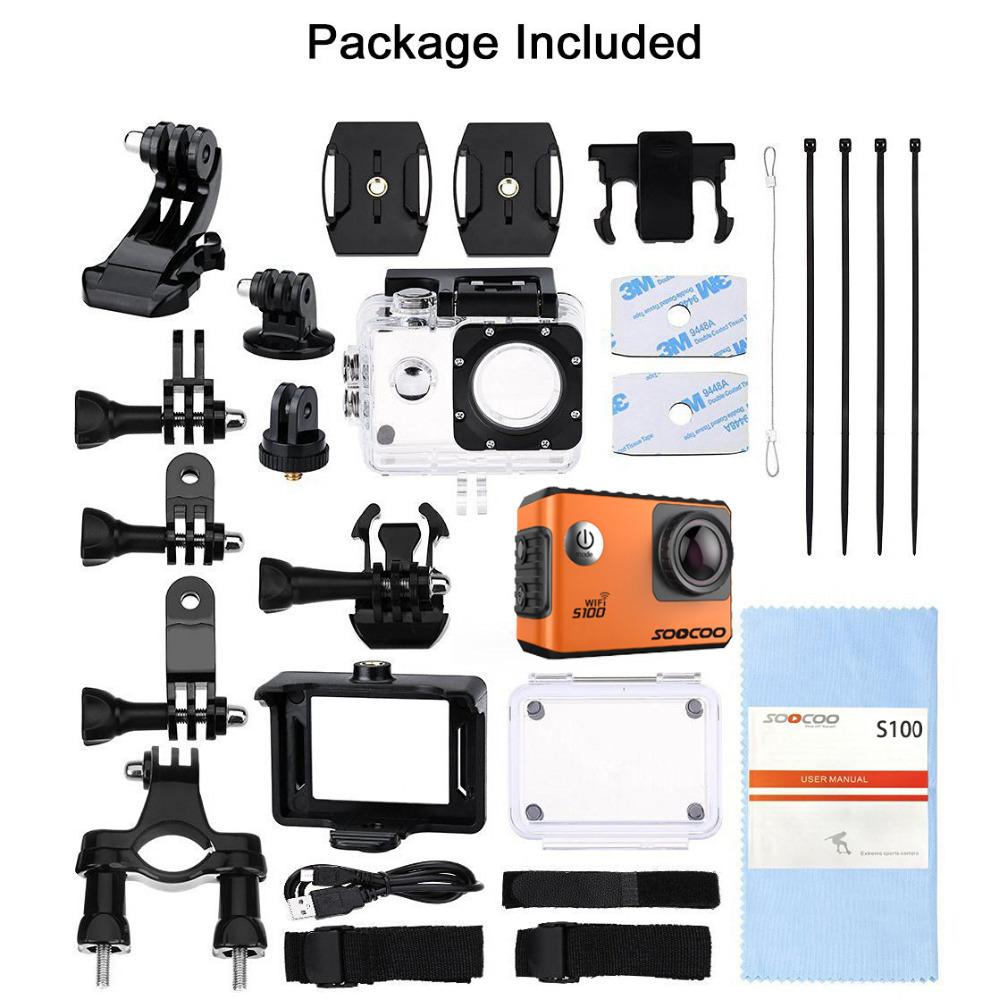 Camera Ultra HD 4K SOOCOO S100, WIFI, GPS Package