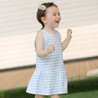 Hot New Brief Style Baby Girl Children A Line Dresses High Quality Brand Pure Tone Hand