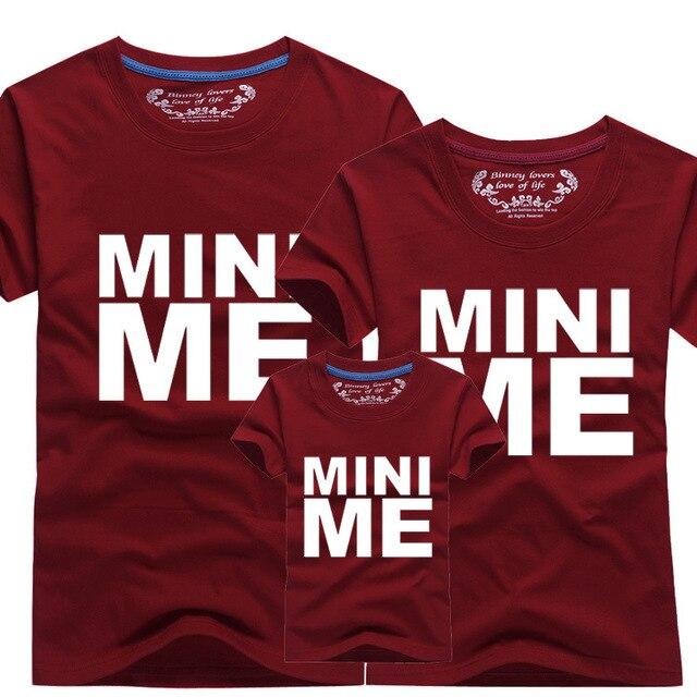 48dec81744 Moda MINI ME camisetas verano de la familia ropa a juego del padre madre  niños equipos