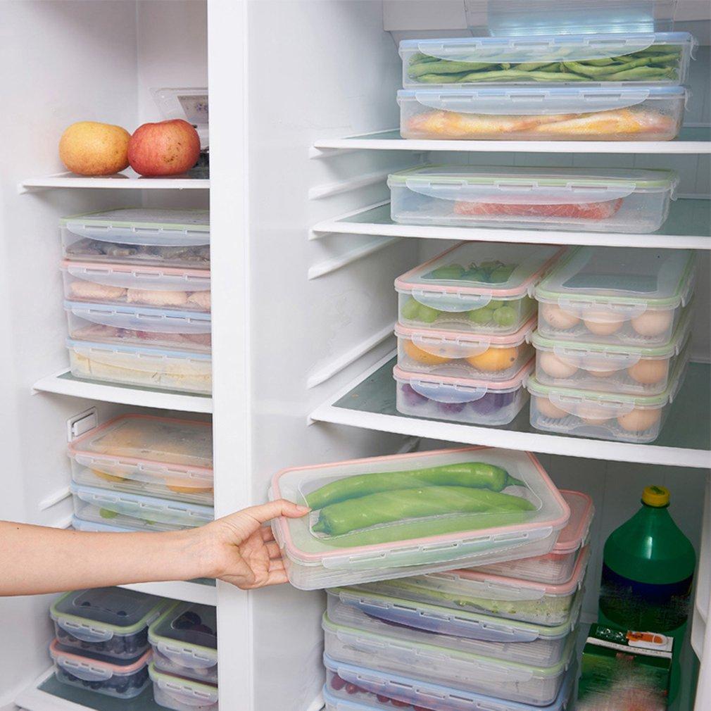 Réfrigérateur de cuisine rectangulaire scellé boîte fraîche avec couvercle boîte de stockage de Drain de récipient de nourriture Gadgets à la maison