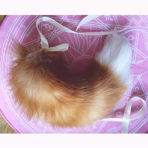 Anal Plug With Big Real Fox Tails Metal Butt Couple Sex Toys For Women Man Erotic Cosplay Very Fluffy Ribbon Bow