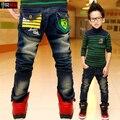 Весна новый для ребенка/мальчики Джинсы, корейской Зимой плюс бархат детские брюки, дети рваные джинсы + детские джинсы + мальчиков джинсы
