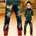 Spring new for baby/boys Jeans, Korean Winter plus velvet children's pants, kids ripped jeans+kids jeans+boys jeans