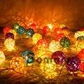 2015 Nova Arrvial Guirlanda Decoração Do Natal Luz 20 pcs Bolas/set 7 Cores Srtip Cristmas Luzes luzes de natal decoracao