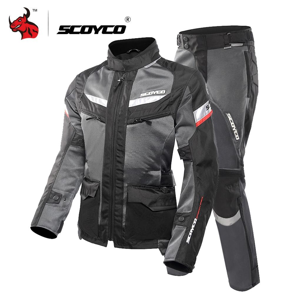 Jaqueta SCOYCO Motocicleta Protetor de Artes Reflexivo Ventile Motocicleta Camisa De Corrida De Moto Jaqueta de Verão Respirável Roupas