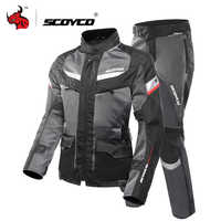 SCOYCO Motorcycle Jacket Protective Gears Reflective Ventilate Moto Jacket Summer Breathable Motorcycle Racing Jersey Clothing