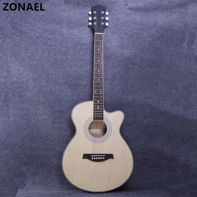 ZONAEL Hot 40 Inch High Quality Acoustic Guitar With 6 Strings Beginners To Practise The Harp Rosewood Basswood Folk Guitarra ZONAEL Hot 40 Inch High Quality Acoustic Guitar With 6 Strings Beginners To Practise The Harp Rosewood Basswood Folk Guitarra