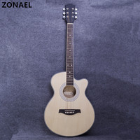 ZONAEL Hot 40 Inch High Quality Acoustic Guitar With 6 Strings Beginners To Practise The Harp Rosewood Basswood Folk Guitarra