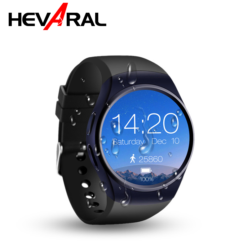 HEVARAL Smart Watch Men Bluetooth Smartwatch Support SIM Card Full Screen Fashion Smart Wristband Heart Rate Fitness Tracker