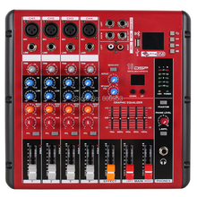 MiCWL 4 Channel Karaoke Studio Live Stage Mixing Console Sound Mixer with USB 48V Bluetooth Monitor Recording 16DSP SMR400-USB