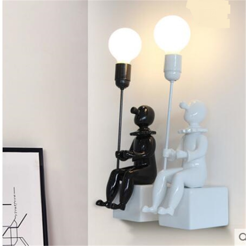 Kids Wall Lamps: Children's Room Lighting Kids Lamp Clown People Creative