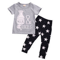 Newborn Baby Clothes Sets Boys Girls Tops Pants Kids Casual Outfits UK Infant Kids Girl Boy