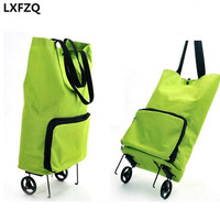 NEW Reusable Shopping Bag Oxford Shopping Trolley Bag On Wheels Bags On Wheels Canvas Shopping Bag