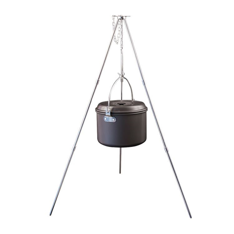 Aluminum Alloy BBQ Grills Dutch Oven Hanging Tripod Portable Folding Outdoor Camping Picnic BBQ Tripod Cooking Campfire Grills