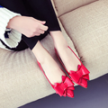 LLZCY Spring New Arrival Women Shoes Bowtie Pointed Toe Ballet Flat Shoes Woman Ballerina Flats sapato feminino