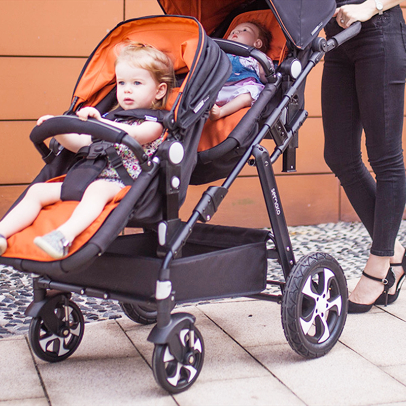 Double stroller portable twins strollers can sit can be folded baby stroller for newbornsDouble stroller portable twins strollers can sit can be folded baby stroller for newborns