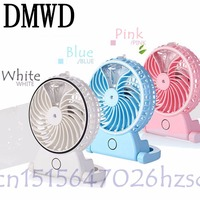 DMWD Summer Humidifier Mini Fan USB Rechargeable Water Mist Fan With Lithium Battery Office Home Round