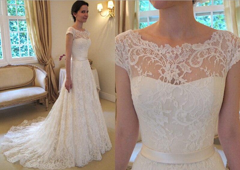 Vestidos De Novia 2016 Vintage A Line Lace Wedding Dresses