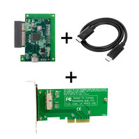 Thunderbot 3 to PCI Express PCI E to 2013 2015 Pro Air SSD Convert Card Cable