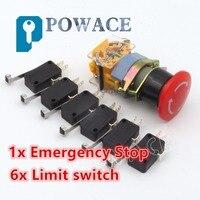 6 шт. аварийный E-Stop красный знак 22 мм 1 NO 1 NC ЧПУ конец стоп ограниченная переключатель Микро
