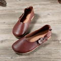 Women Shoes Flats Genuine Leather Round Toe Slip on Ballet Flats Moccasins Ladies Spring/Autumn Female Footwear(8820)