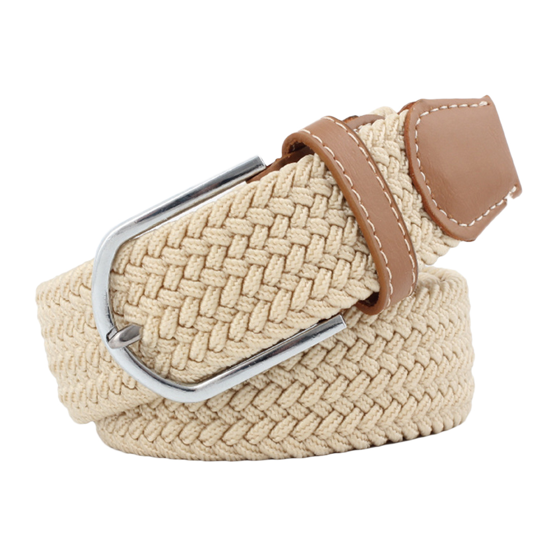 2018 New Women Belt Elastic Fabric Braided Belts for Male & Female Candy Colors New Style Belt Accessories Waist Belts