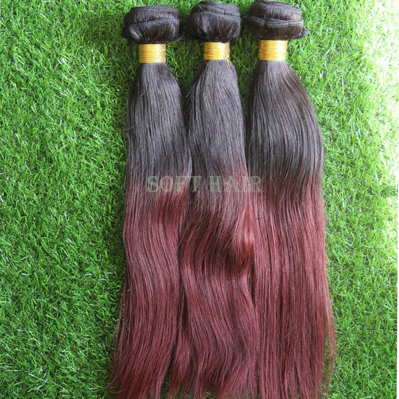 7A Ombre Brazilian Hair Straight 99j Ombre Brazilian Virgin Hair Bundles Weave Red Colored Brazilian Ombre Human Hair Extensions от Aliexpress INT