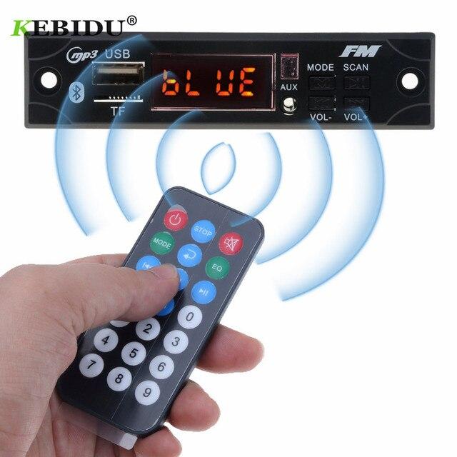 kebidu 5V 12V Wireless Bluetooth MP3 WMA Decoder Board Car Audio USB TF FM Radio Module with Remote Control For Car accessories