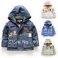 Novo 2015 primavera outono meninos outerwear crianças roupas crianças casacos criança fresco casual com capuz casaco