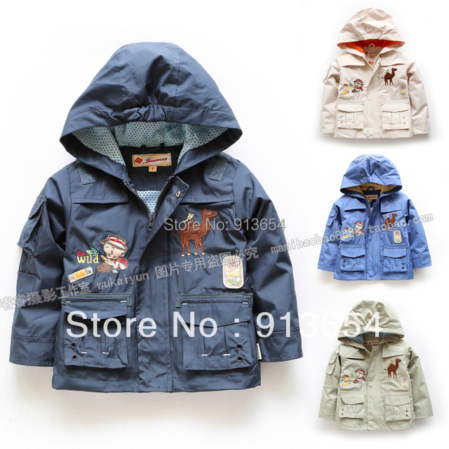 Nueva 2015 otoño del resorte prendas de vestir exteriores de los niños ropa para niños chaquetas y abrigos niño con capucha informal fría capa superior boy