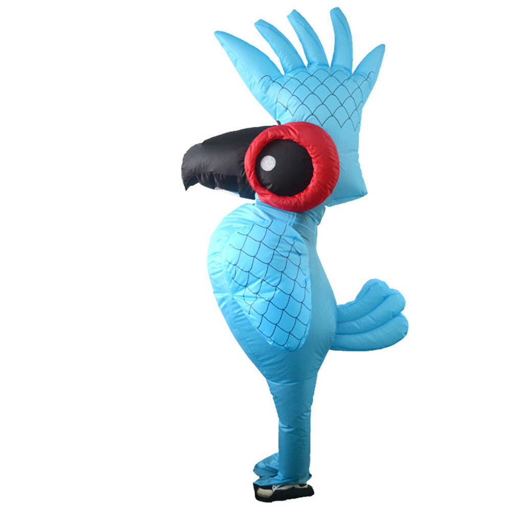 Blue Parrot Inflatable Cosplay Costume Cartoon Animal Parrot mascot Clothes Adult Purim Halloween Party Costumes1.5m-2.0m