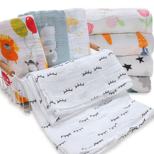 Fashionable Swaddle Wrap Cotton Baby Receiving Blanket Newborn Baby Be