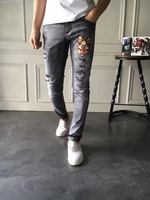 WRD06141BA Fashion Men Jeans 2018 Luxury Brands European Designer Casual Men Clothing